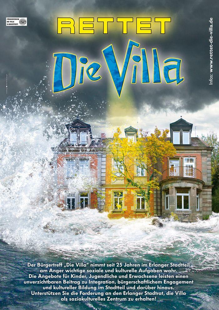 """Plakat zur Aktion """"Rettet Die Villa"""" 2010"""