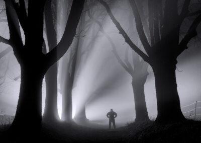 Mann im Wald- Bild von Ulrike Wiese