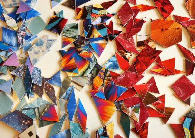 farbige Mosaikteile
